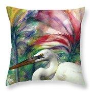 Heron Flair Throw Pillow