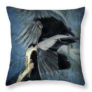 Heron Love  Throw Pillow