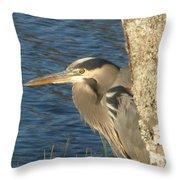 Heron On My Doorstep Throw Pillow