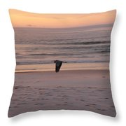 Heron On The Downwing Throw Pillow