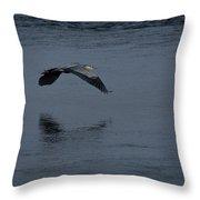 Heron Reflections 2 Throw Pillow