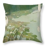 Herons In Summer Throw Pillow