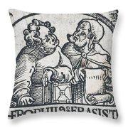 Herophilos, Erasistratus, Ancient Greek Throw Pillow
