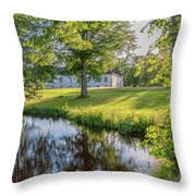 Herrevads Kloster By The Riverside Throw Pillow