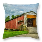 Herr's Mill Bridge - Pa Throw Pillow