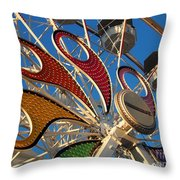 Hershey Ferris Wheel Of Color Throw Pillow