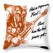He's A Fighting Fool - More Production Throw Pillow