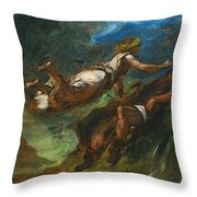 Hesiod And The Muse Throw Pillow