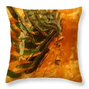 Hesitant - Tile Throw Pillow
