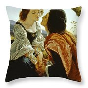 Hesperus The Evening Star Sacred To Lovers Throw Pillow by Sir Joseph Noel Paton