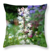 Heucharella - Fairy Bells Throw Pillow