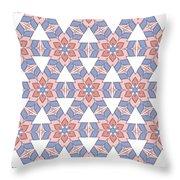 Hexagonal Flower Pattern Throw Pillow
