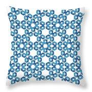 Hexagonal Snowflake Pattern Throw Pillow