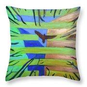 Hexagram-57-xun-penetrating-wind- Throw Pillow