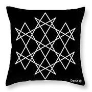 Hexagrammaton Throw Pillow