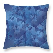 Hexentricity 1 Throw Pillow