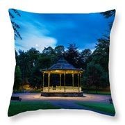 Hexham Bandstand At Night Throw Pillow