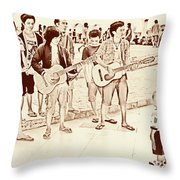 Hey Baby We Sing For You Throw Pillow
