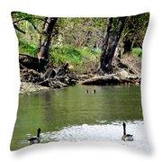 Hey Be Careful Its Hunting Season Throw Pillow