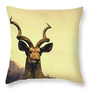 Hi, I Am Kudu Throw Pillow