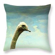 Hi, I Am The Ostrich Throw Pillow