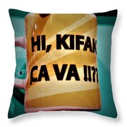 Hi Kifak Ca Va Mug In Lebanon  Throw Pillow