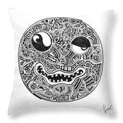 Hi, Smiley Throw Pillow