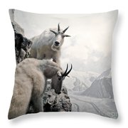 Hi We Are The Mountain Goats Throw Pillow