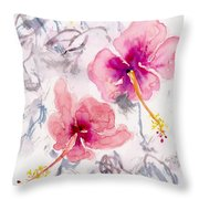 Hibiscus 1 Throw Pillow