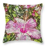 Hibiscus 101516 1a Throw Pillow