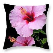 Hibiscus 7 V1 Throw Pillow