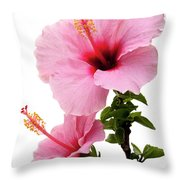 Hibiscus 7 V2 Throw Pillow
