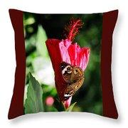 Hibiscus Aflutter Throw Pillow