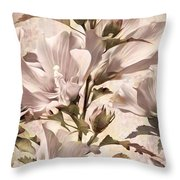 Hibiscus Apagado Throw Pillow