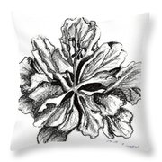 Hibiscus Bloom Throw Pillow