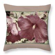 Hibiscus Floral Series  Throw Pillow