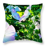 Hibiscus Garden Throw Pillow