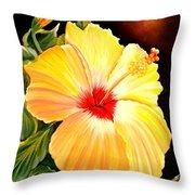 Hibiscus Glory Throw Pillow