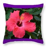 Hibiscus I Throw Pillow