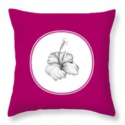 Hibiscus II Throw Pillow