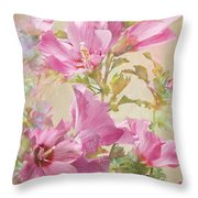 Hibiscus Impression Throw Pillow