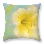 Hibiscus In The Clouds Throw Pillow