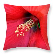Hibiscus Macro Throw Pillow