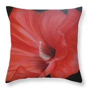 Hibiscus Melody Throw Pillow