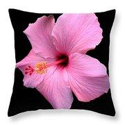 Hibiscus On Black Throw Pillow