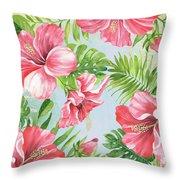 Hibiscus Paradise-jp3965 Throw Pillow