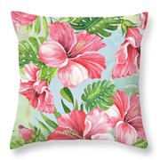 Hibiscus Paradise-jp3966 Throw Pillow