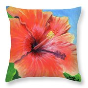 Hibiscus Passion Throw Pillow