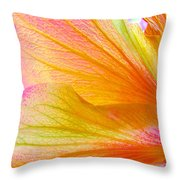 Hibiscus Petals Throw Pillow