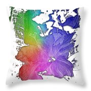 Hibiscus S D Z 2 Cool Rainbow 3 Dimensional Throw Pillow